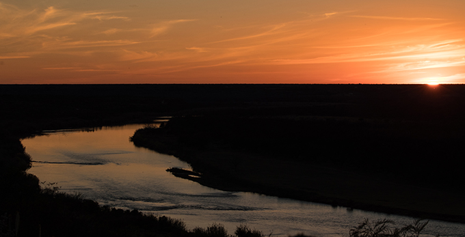 Lower Rio Grande River Texas - Trump wall will destroy