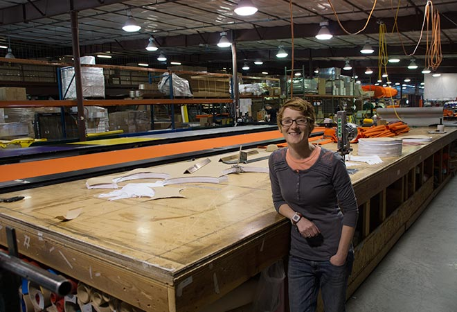 AIRE Raft Cataraft IK Factory Meridian Idaho USA - Sheena Coles AIRE Marketing Manager