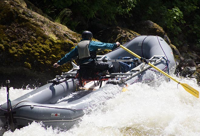 Avon Whitewater Raft with Rowing Frame Configuration