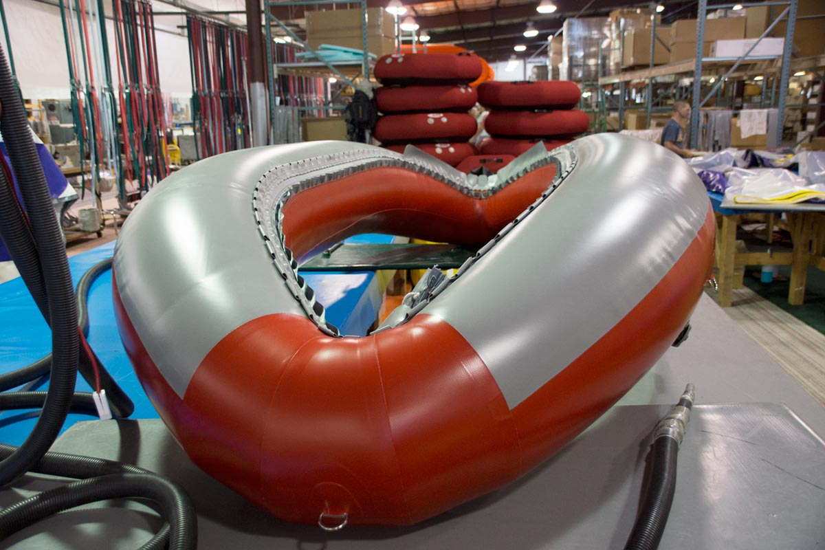 AIRE Red Super Puma Raft Inflated Hull