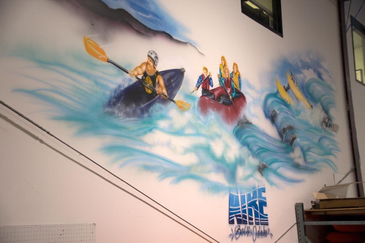 AIRE Raft Factory Graffiti