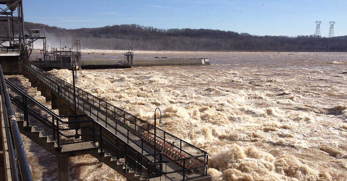 Muddy flow at Susquehanna River